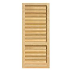 Steves Sons Louver Panel Solid Core Pine Interior Slab