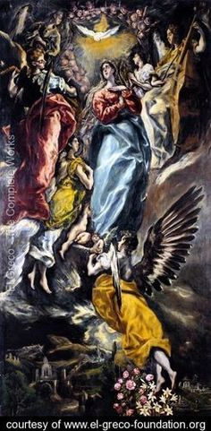 The Virgin of the Immaculate Conception 1608-13 // El Greco (Domenikos Theotokopoulos)