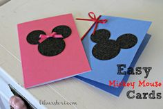 Simple & Easy Mickey Mouse Cards