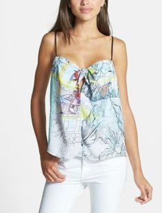This top is so pretty. Love the front tie and the sweetheart neckline.