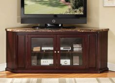 Nevin Espresso Corner Tv Stand by Acme Furniture