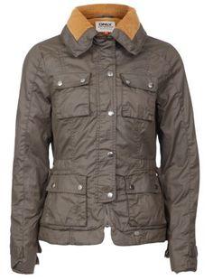 Khaki (Green) Only Khaki Coated Cord Collar Jacket | 259281334 | New Look