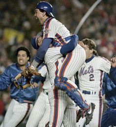 Final out recorded in Game 7 of the 1986 World Series. October 27, 1986.