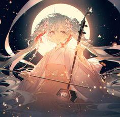 hatsune miku and vocaloid image Girls Anime, Manga Girl, Anime Art Girl, Manga Kawaii, Kawaii Anime Girl, Anime Chibi, Hatsune Miku Vocaloid, Style Anime, Art Anime Fille