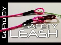 How to make a SAFETY LEASH for your GoPro camera - GoPro DIY #6 - YouTube #goprocamera