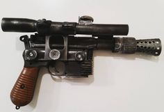 DIY Cosplay Han Solo DL-44 Blaster Tutorial :) I made it using PVC pipe Polly Plastics Moldable plastic and a $3 air soft gun! :) I tried to make it as 1:1 scale as possible and it has many of the rpf discovered intricacies of the original prop. Check out my youtube channel link in the bio and subscribe to be alerted when I release the video on how to make thus beauty :) #cosplay #cosplayprop #cosplaytutorial #nerd #geek #geeklife #provorocks #thermoplastic #starwars #starwars7 #whoshotfirst…