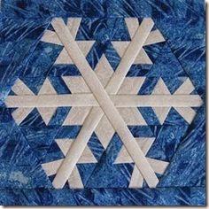 Beautiful snowflake quilt block!  Snowflake 7 cropped square
