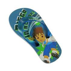 Go Diego Go - Toddler Boys Diego Flip Flop Sandal, Blue, Green 21968 Diego. $5.90