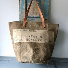 40's USNRF Heavy canvas sea bag remake rounded bottom tote bag W51cm H36cm D30 Handle52cm IND_BNP_0100_USNRF