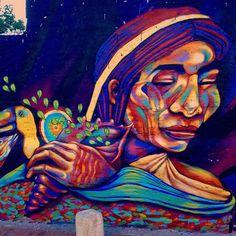 Pagamento (detalle) Centro histórico de Santa Marta  Junto a #beek  #mural #santamarta #guache