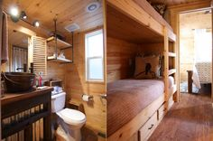There's also a bunk bed for additional slumbering purposes with drawers for storage and an ample-sized bathroom.