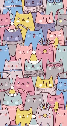 Check out this awesome post: Wallpaper gatos para celular Wallpaper Gatos, Cute Cat Wallpaper, Trendy Wallpaper, Kawaii Wallpaper, Wallpaper Backgrounds, Iphone Wallpapers, Wallpaper Awesome, Wallpaper Ideas, Cat Pattern Wallpaper