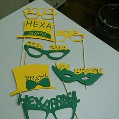 Objetos by Déa: Preparando para a COPA DO MUNDO - WORLD CUP Brazil World Cup, Party Time, Gifts, Diy, Ariel, Classroom Ideas, Scullery Ideas, Green Decoration, Objects