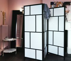 Turn any corner of your bedroom into a private dressing area with a room divider, like RISÖR.
