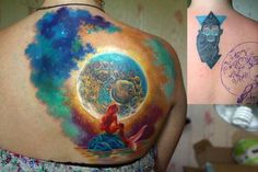 Beautiful cover up tattoo on back.