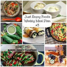 Just Enjoy Food's Weekly Meal Plan Week 3. Grain-Free, Paleo, Primal. 21 Meals and 3 desserts for your week!