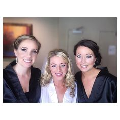 Jamie and a couple of her lovely bridesmaids! All ladies were airbrushed by Samantha and @lauraloveslashes from @veilofgrace #beauties #bridesmaids #weddingmakeup #tandj15