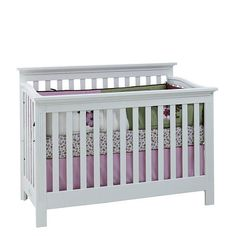 """Baby Cache Essentials Flat Lifetime Convertible Crib - White - Baby Cache - Babies """"R"""" Us One of my top picks for a crib :)"""
