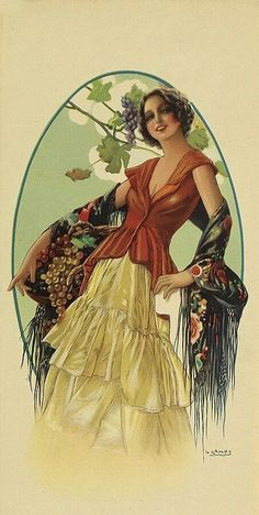 Buy online, view images and see past prices for GASPAR CAMPS [WINSOME LADIES. Invaluable is the world's largest marketplace for art, antiques, and collectibles. Art Nouveau Poster, Art Deco Posters, Vintage Artwork, Vintage Prints, Vintage Illustrations, Art Through The Ages, Art Articles, Pulp, In Vino Veritas