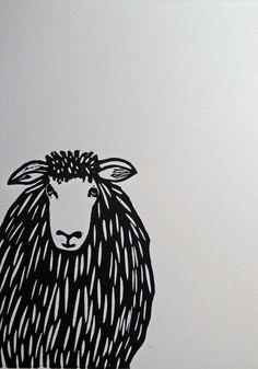 Elsie Original lino print by byClaireParsons on Etsy Linoprint, Lino Cuts, Sgraffito, Linocut Prints, Paper Size, Printmaking, Stamping, Knight, Art Ideas