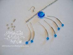 Adventures of a DIY Mom - Sapphire Dangle Earrings