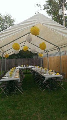 Cute for a backyard budget wedding reception