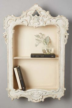 Big love for this 'Little Library Shelf' from Anthropologie.