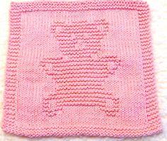 Knitting Cloth Pattern     TEDDY BEAR    PDF by ezcareknits, $3.00