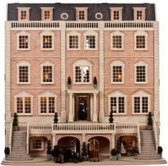 Created by Julie Jackson of Dee-Daw Designs especially for the 200th issue of Dolls House & Miniature Scene. Featherstone Hall Hotel is a Georgian Mansion conve