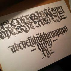 by Martynov Andrey #Blackletter #alphabet #practice