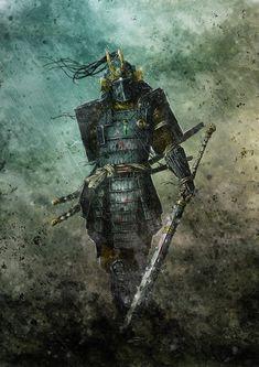 Amazing Artwork by Olivier Sanfilippo Dark Fantasy Art, Fantasy Artwork, Ronin Samurai, Samurai Warrior, Japanese Tattoo Art, Japanese Art, Japanese Dragon, Fantasy Character Design, Character Art