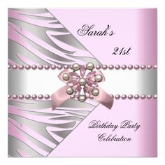 Birthday Party Elegant Gold White Silver Damask Card Birthday