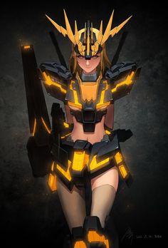 2012 08 GundamGirl Banshee / Normal by Haje714.deviantart.com on @deviantART