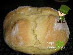 Irish soda bread - extremely easy and it was very good.  Perfect accompaniment to our St. Pat's dinner.