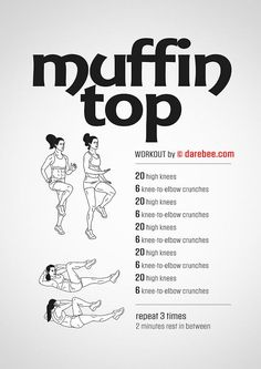 Muffin Top Workout (easiest way to lose weight fast)