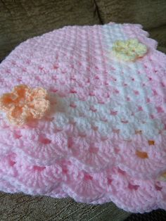 Ravelry: debbieredman's Granny in pink with flowers