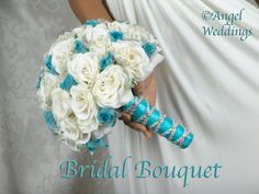 Beautiful SHANTI MALIBU Complete Bridal Bouquet Package silk flowers wedding bridesmaid bouquets groom boutonniere corsage. $395.00, via Etsy.