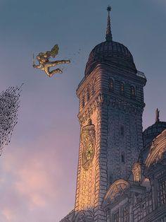Assassin's Creed by Geof Darrow * Comic Book Artists, Comic Artist, Comic Books Art, Illustrations, Children's Book Illustration, Geof Darrow, Graphic Novel Art, Sci Fi Comics, Ligne Claire
