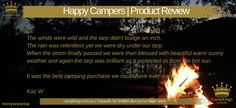Kaz W - Happy Campers product Review