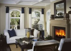 Beautiful fireplace and mantel for the living room