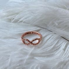 Rose Gold Infinity Ring Infinity Rope Ring by AlyAshleyJewels