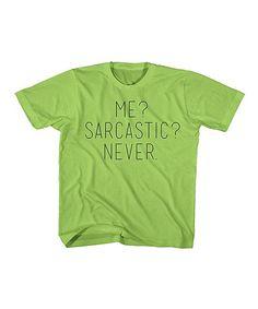Key Lime 'Me Sarcastic Never' Tee - Toddler & Boys