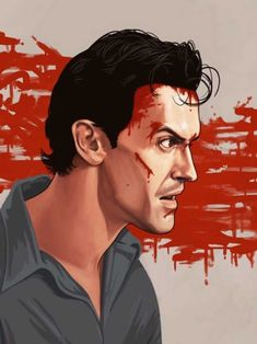 Mike Mitchell, Evil Dead Movies, Scary Movies, Horror Movies, Cultura Pop, Portrait Illustration, Character Illustration, Ash Evil Dead, Famous Movies