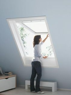 Choose a top hung PU white VELUX frame to enjoy plenty of headroom to enjoy your surroundings.