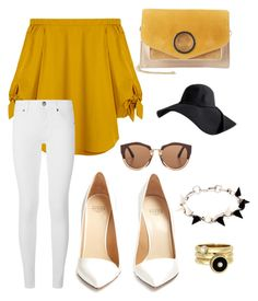 """""""Yellow Ladies 💛"""" by seesly on Polyvore featuring beauté, TIBI, Burberry, Francesco Russo, Halston Heritage, Marni et Joomi Lim"""