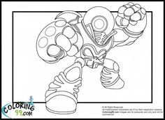 Skylanders swap force coloring page with the villain for Skylanders giants coloring pages eye brawl