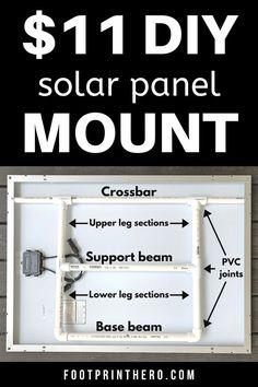 Homemade Solar Panels, Portable Solar Panels, Pvc Joints, Solar Powered Generator, Solar Energy Projects, Tilt Angle, Solar Heater, Off Grid Solar, Solar Panel Installation