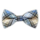 Partridge Plaid - Water/Light Champagne (Cotton Bow Ties) from TheTieBar.com - Wear Your Good Tie Everyday