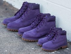 «Color coordinate with the fam. Purple @timberland 6-inch Boot is available in junior, youth & toddler sizes in-store & online!»