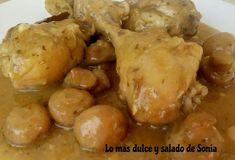 Lo más dulce y salado de Sonia: Jamoncitos de pollo en salsa {olla GMG}